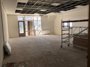 De plafonds bijna klaar